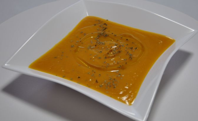 Crema de batata y zanahoria