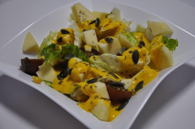 Ensalada de manzana y mango