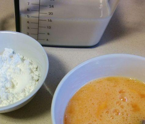 Ingredientes de crema pastelera