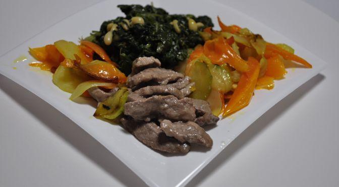 Ternera con verduras