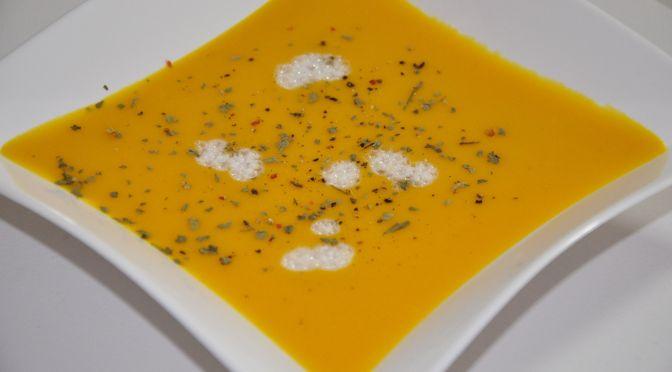 Crema de zanahoria y coco