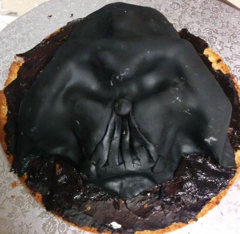 Darth Vader de fondant de azúcar negro