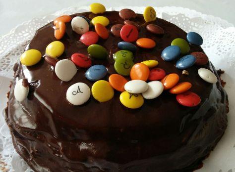 Tarta de chocolate y lacasitos