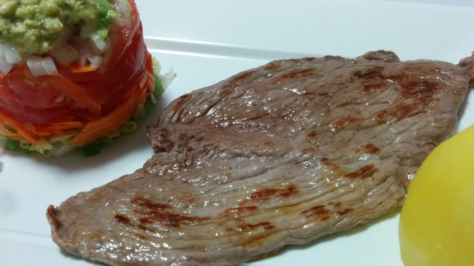 Filete de ternera con ensalada