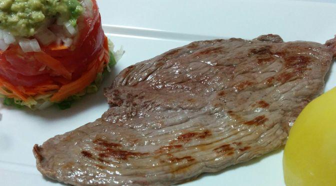 Filete de ternera con ensalada