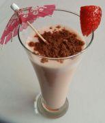 Batido de fresa con cacao