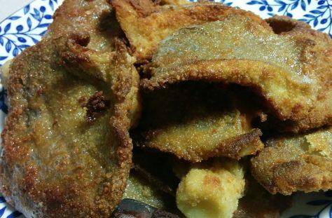 Setas empanadas fritas