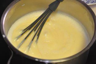 Crema catalana con espuma