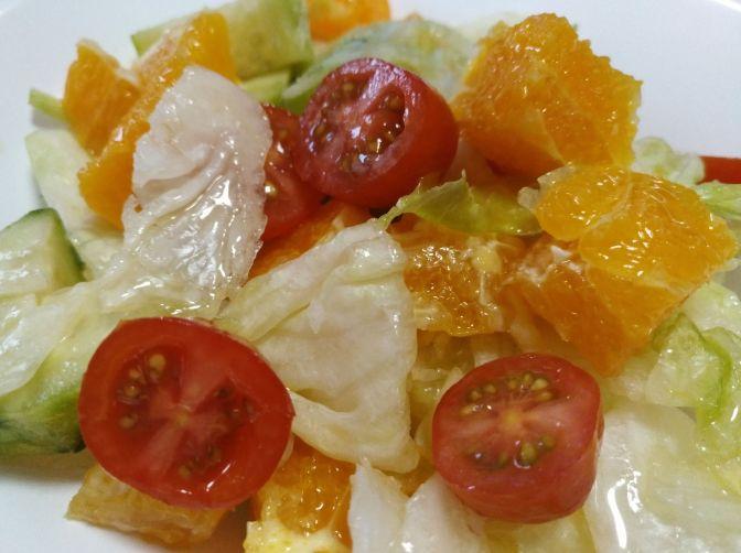 Ensalada de naranja y pepino