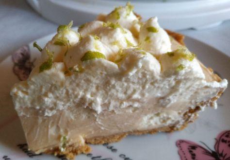 Porción de tarta de lima