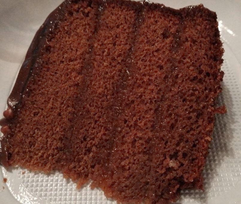 Trozo de tarta Sácher