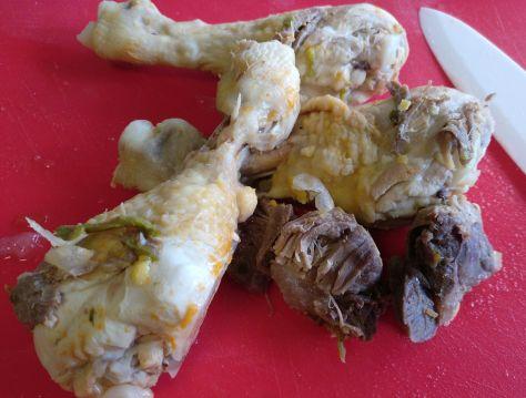 Carne de morcillo y pollo