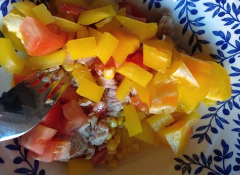 Ingredientes de ensalada de pasta