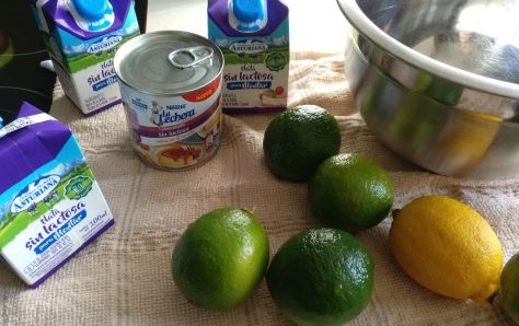 Ingredientes de mousse de lima