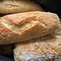 Pan con harina de pizza