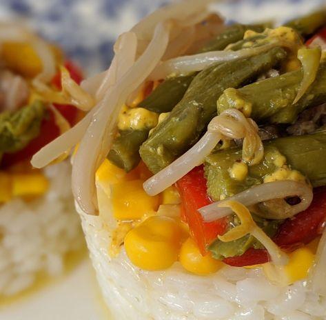 Ensalada templada de arroz
