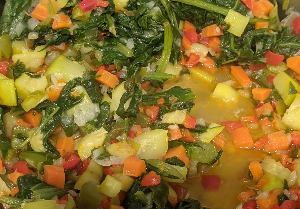 Pochado de verduras